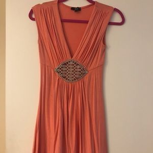 Sky dress with rhinestones