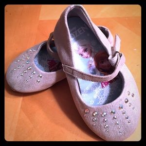 Other - Toddler 5 silver rhinestone Mary Janes