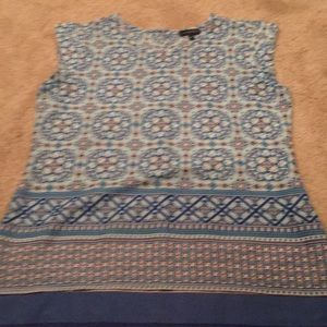 Silky material tank top blouse size small