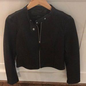 Zara Genuine Leather Jacket Size M