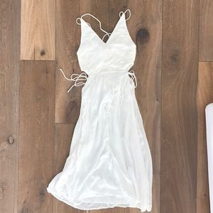 White Zara Dress with Cutouts