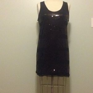 Sequenced Black Dress
