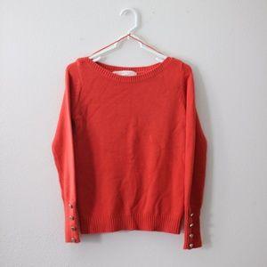 Zara Orange Knit Sweater