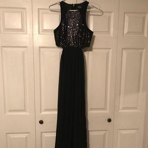 Lulu's Black Sequin Maxi Dress