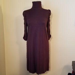 Max Studio, Large, Turtle Neck Ruffle Arm Dress