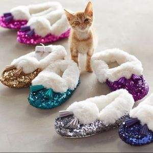 Other - Pottery Barn Kids Sequin Sparkle Slippers