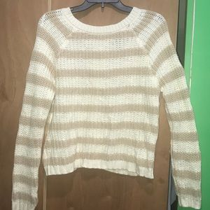 Off White & Nude Sweater