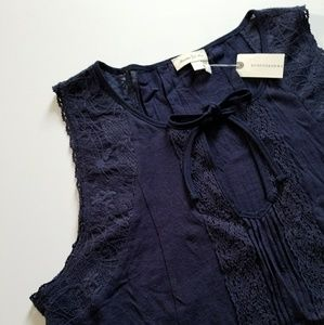 NWT Anthropologie Meadow Rue Tassle Lace  Top L
