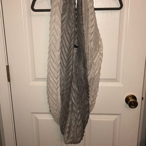 Silver and gray shimmery infinity scarf
