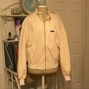 Vintage Pale Yellow Cream Members Only Jacket
