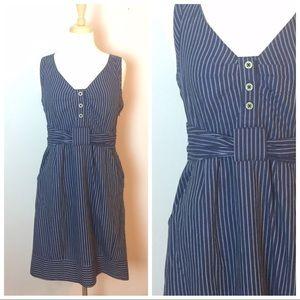 Maeve Navy pin stripe wiggle dress 6