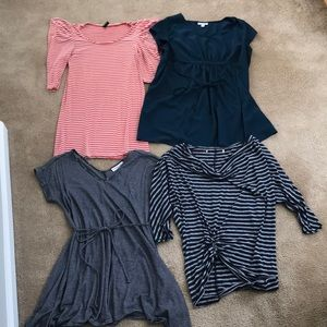 4 Maternity Shirts Bundle
