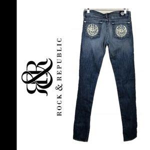 Rock & Republic Skull Women's Jeans - 27