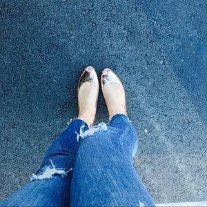 💯 Giuseppe Zanotti Peep Toe Flats