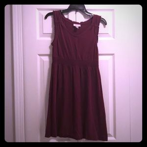 Loft - dark purple empire waist dress