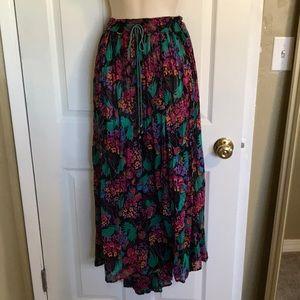 Dresses & Skirts - long flowy floral skirt adjustable plus size