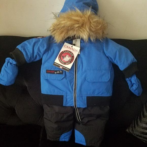 Baby boy Canada snowsuit