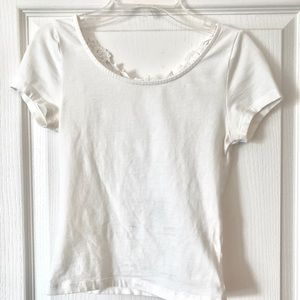 H&M Divided White Crop Blouse