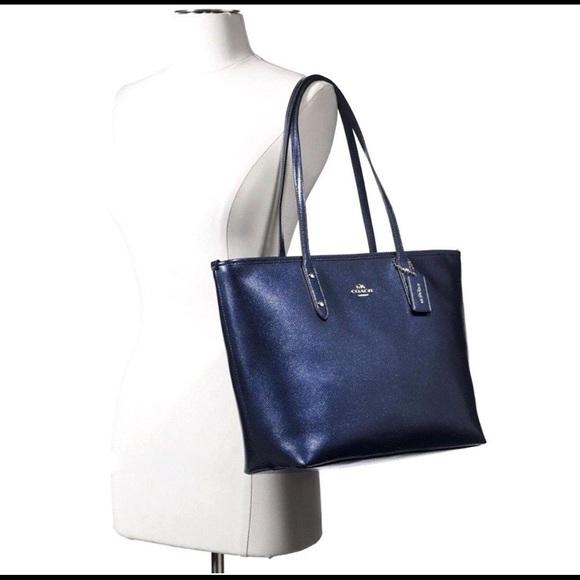 f0d1870072413 Coach Handbags - Authentic Coach City Zip Tote - Metallic Midnight