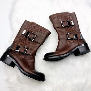 Vince Camuto Quilted Moto Boots