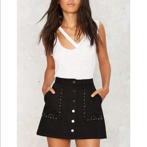 #45💛 rascal studded denim skirt
