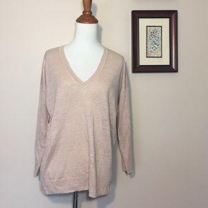 J. Crew 100% Linen Blush Pink Nude Sweater S