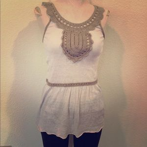 Embroidered stylish tank