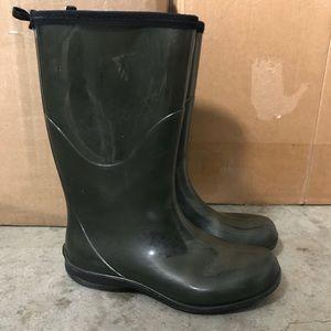 Kamik Rain Boots Deep Green Size 8