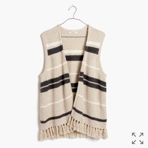 Madewell Coastward Fringe Sweater-Vest