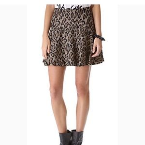 🐆Free People Leopard Print Skirt Size 4 NWT🐆