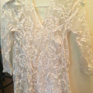 Beautiful detailed dress in cream
