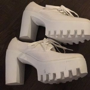 ae9447e6c0df ASOS Shoes - ASOS Overboard Laceup Platform Shoes in White