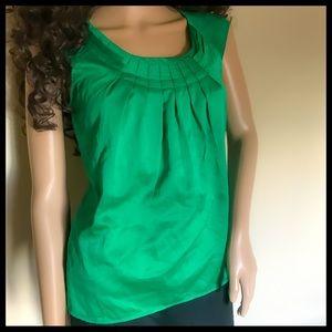 Kelly green sleeveless top