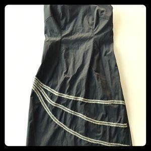 J.Crew Strapless Midi Black Dress Size 6