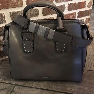 Rebecca Minkoff leather tote in grey