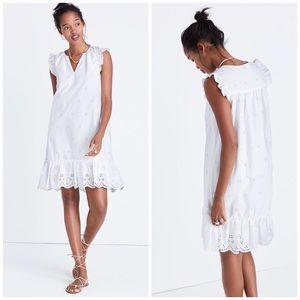 NWT Madewell Eyelet Garden White Dress