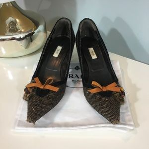 Prada Tweed Heels