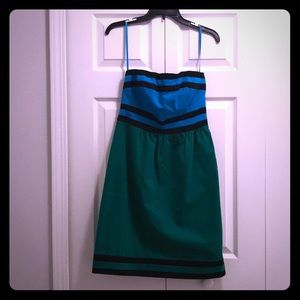 The Limited - strapless color block dress