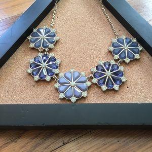 H&M Blue Jewels Floral Necklace