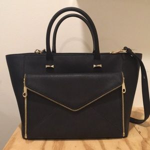 Black Rebecca Minkcoff purse w/ removable clutch