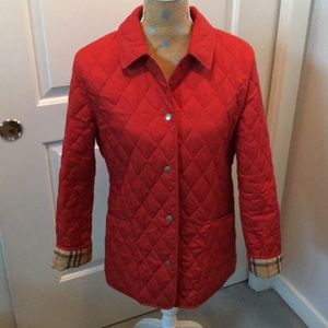 Burberry diamond quilted Red jacket!