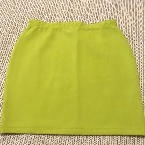 Lime green skirt!