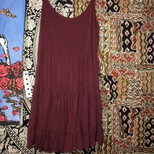 Brandy Melville maroon slip dress/coverup