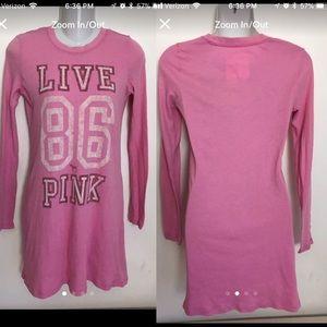 Victoria's Secret PINK Sleep T Shirt Small Pajama