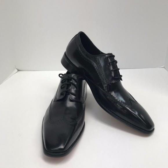 7e7405b88862 Steven Land Black Dress Shoes Men