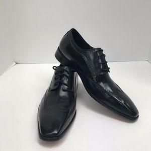 Steven Land Black Dress Shoes Men