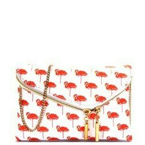 New Small Pink Flamingo Crossbody bag
