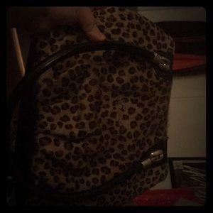 Cheetah faux fur bag/handbag/purse