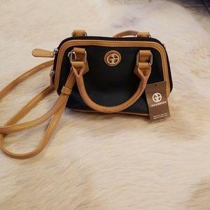 Giani Bernini Mini Color block Signature Bag Navy