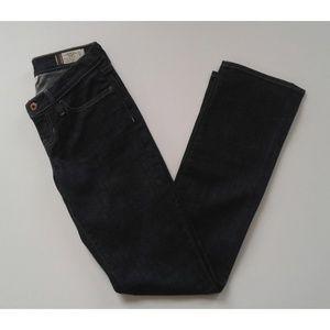 Gap Straight Leg Dark Wash Jeans 2 Tall 27 x 33